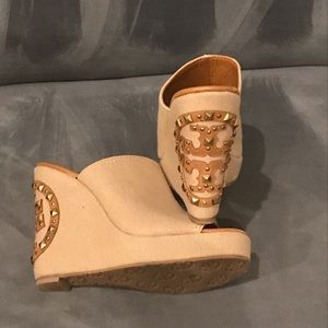 Tory Burch canvas wedge